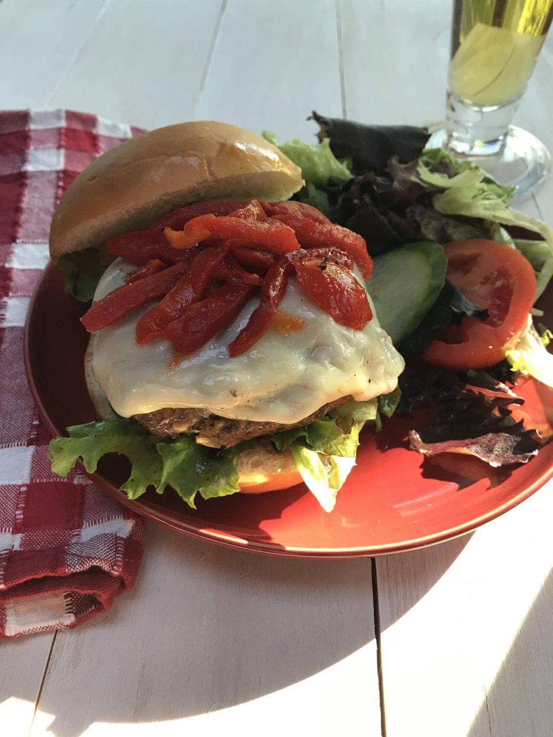 Beef and Mushroom Burger